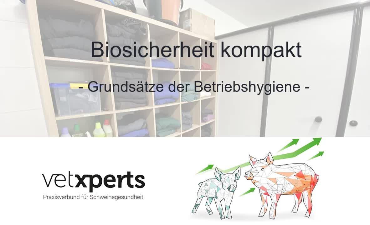 Biosicherheit kompakt - Grundsätze der Betriebshygiene